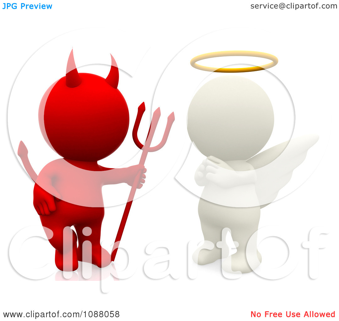 Clipart devil and angel - ClipartFest picture stock