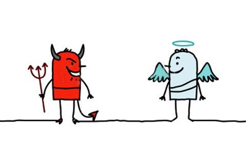 Angel vs devil clipart jpg library download Angel vs devil clipart - ClipartFest jpg library download