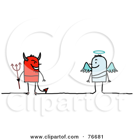Angel vs devil clipart graphic free download Royalty-Free (RF) Clipart Illustration of a Male Angel And Devil ... graphic free download