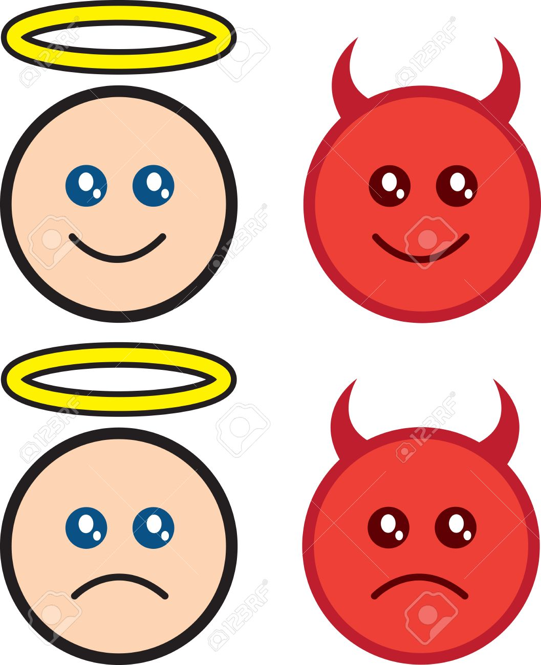 Angel and devil clipart - ClipartFest picture black and white library