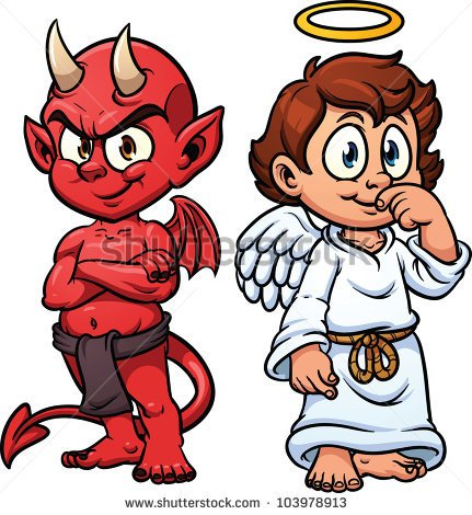 Angel vs devil clipart clipart black and white download Angel Devil Stock Images, Royalty-Free Images & Vectors | Shutterstock clipart black and white download