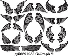 Wings clipart images image library library Angel Wings Clip Art - Royalty Free - GoGraph image library library
