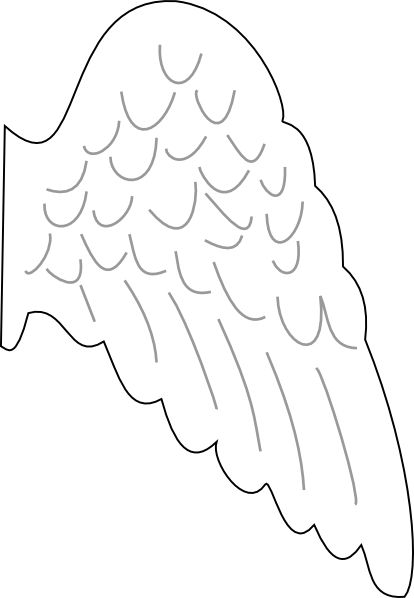 best ideas about. Angel wing patterns clipart