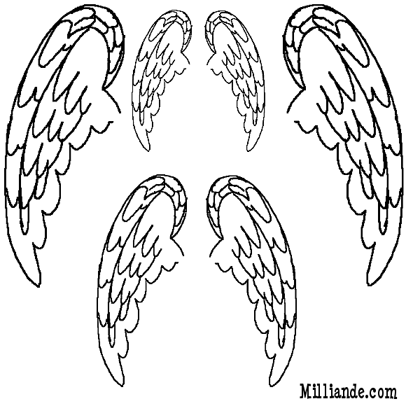 Angel wing patterns clipart jpg library library Angel Wings Template. angel heart wings wallpaper msyugioh123 ... jpg library library