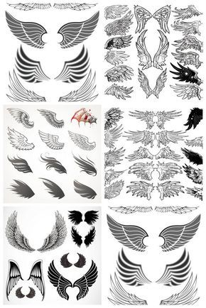 Angel wing patterns clipart png free library 1000+ ideas about Angel Wings Clip Art on Pinterest | Angel wings ... png free library