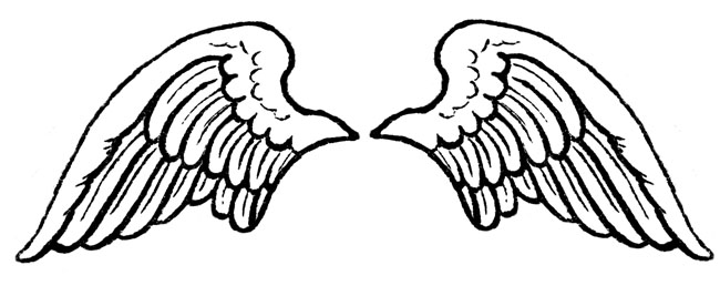 Angel wing patterns clipart. Clipartfest images