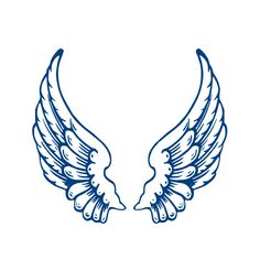 Angel wing patterns clipart. Clipartfest wings template