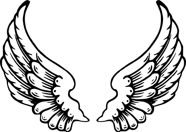 Angel wing pictures clipart png library Angel Wings clip art Free vector in Open office drawing svg ( .svg ... png library