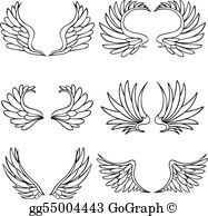 Angel wing pictures clipart vector library stock Angel Wings Clip Art - Royalty Free - GoGraph vector library stock