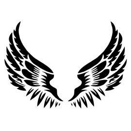 Angel wing stencil clipart image library Angel Wings Stencil | Owl | Tattoo stencils, Stencils, Claw tattoo image library