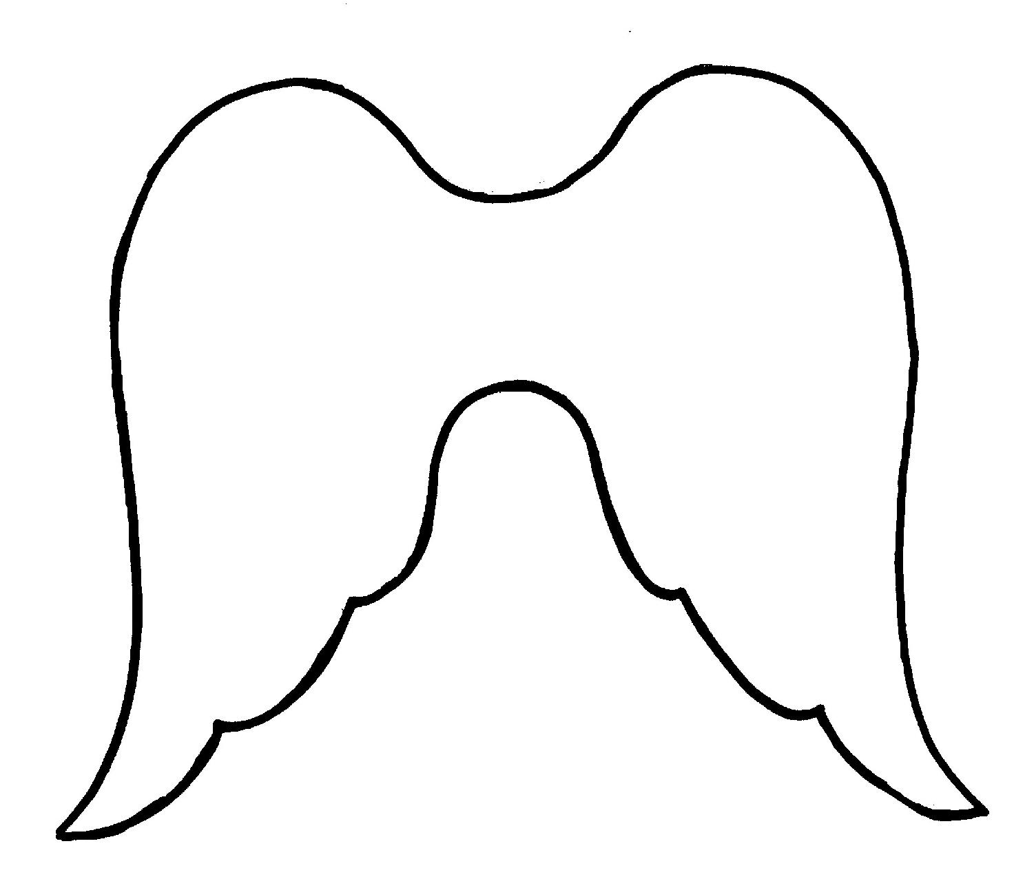Angel wing stencil clipart jpg Free Angel Wing Stencil, Download Free Clip Art, Free Clip Art on ... jpg