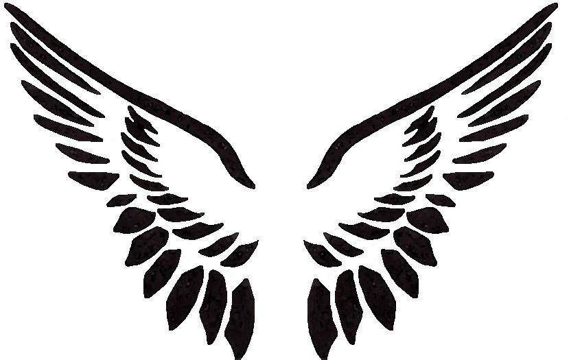 Angel wing stencil clipart png free stock Free Angel Wing Stencil, Download Free Clip Art, Free Clip Art on ... png free stock