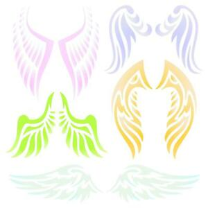 Angel wing stencil clipart banner freeuse stock Details about Angel Wing Stencil Reusable Christian Guardian Angel Wings  Wall Template Use banner freeuse stock