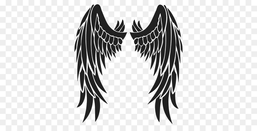 Angel wing stencil clipart svg freeuse download Angel Wings in Black clipart - Angel, Wing, Leaf, transparent clip art svg freeuse download