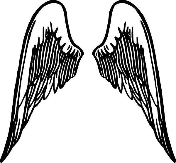 Angel wings and cross clipart library Angel Wings Tattoo Clip Art at Clker.com - vector clip art online ... library