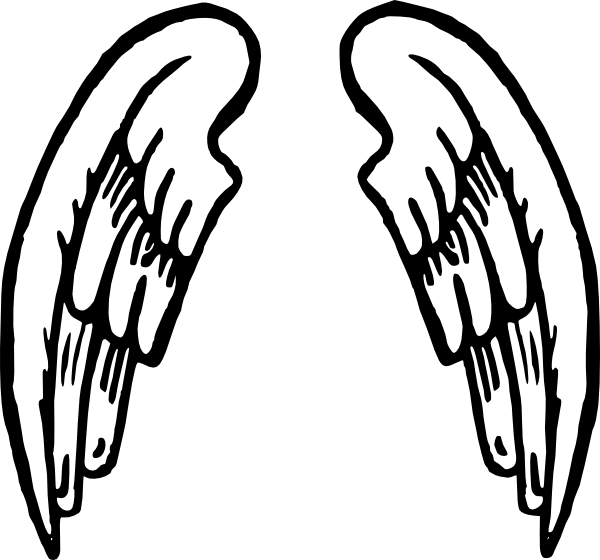 Angel wings and cross clipart clipart transparent stock Angel Wings Tattoo Clip Art at Clker.com - vector clip art online ... clipart transparent stock