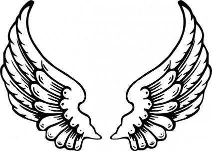Baby angel wings clipart black and white banner royalty free download Baby Angel Wings Clip Art | Free vector >> Vector clip art >> Angel ... banner royalty free download