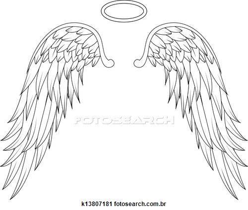 Victoria secret wings clipart banner black and white download Angel wings Stock Illustrations. 4840 angel wings clip art images ... banner black and white download