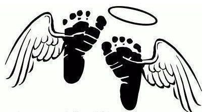Angel wings with baby footprint clipart black and white clipart library download Angel feet tattoo   Tattoos   Baby feet tattoos, Baby tattoos, Poem ... clipart library download