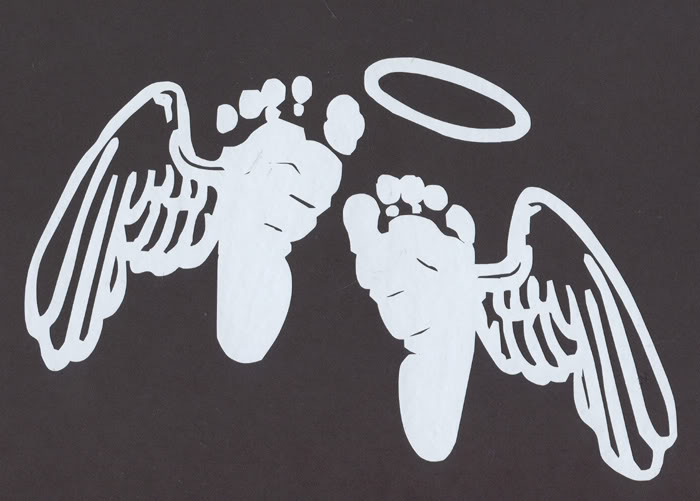 Angel wings with baby footprint clipart black and white png royalty free library Baby Feet With Angel Wings Tattoos free image png royalty free library