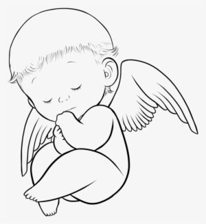 Angel wings with baby footprint clipart black and white clip art library Angel Baby PNG & Download Transparent Angel Baby PNG Images for Free ... clip art library