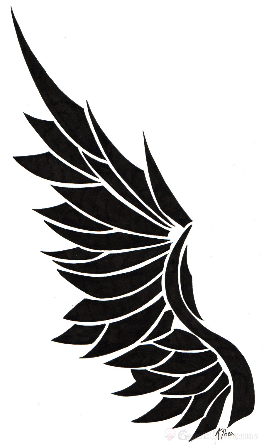 Angel wings with tribal design clipart svg transparent download Free Angel Wings Logo, Download Free Clip Art, Free Clip Art on ... svg transparent download
