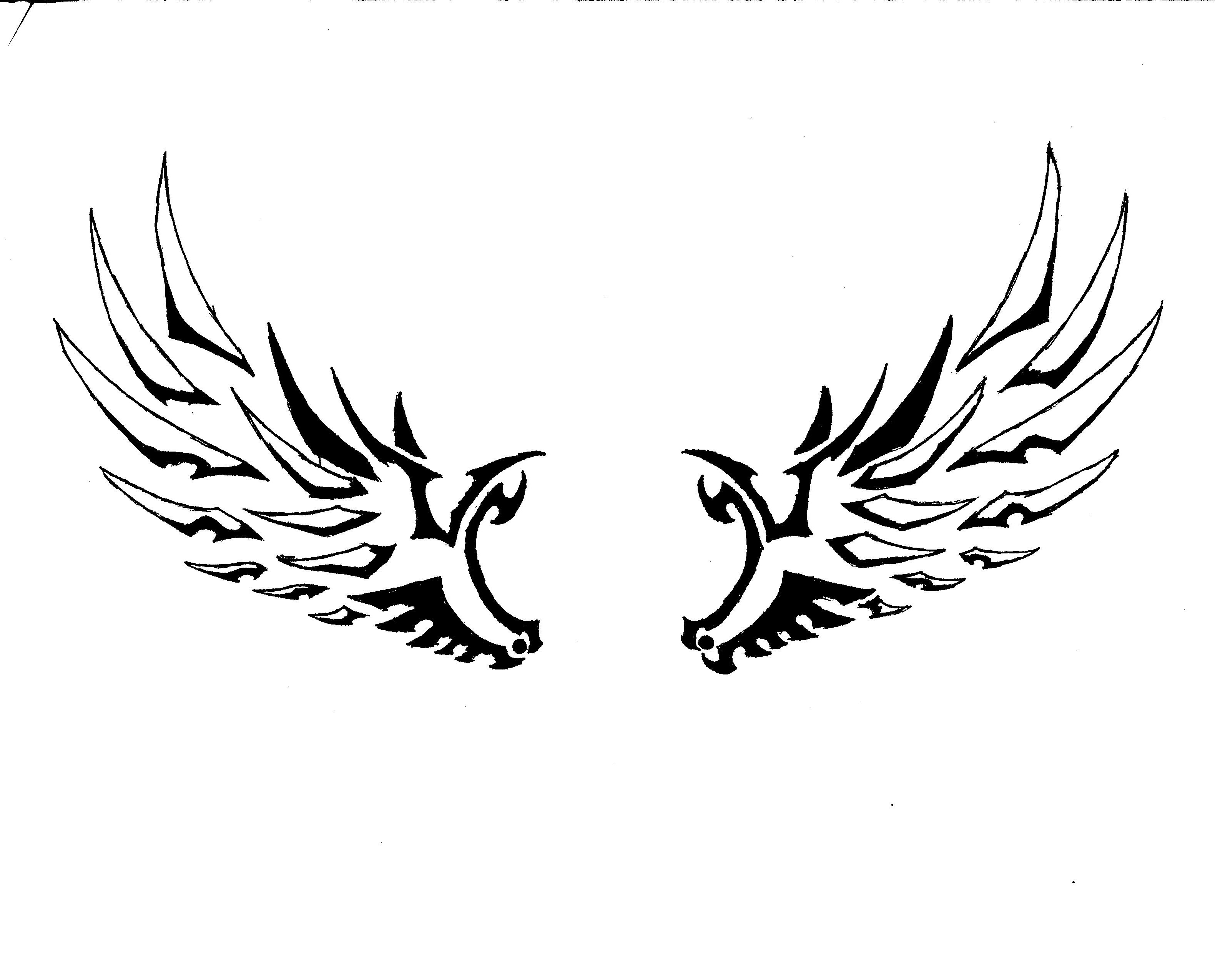 Angel wings with tribal design clipart clip download Free Simple Angel Wings Drawing, Download Free Clip Art, Free Clip ... clip download