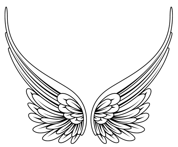 Angel wings with tribal design clipart svg stock Tribal Angel Wings- High Quality Photos and Flash Designs of ... svg stock