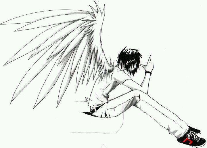 Angel with a shotgun clipart