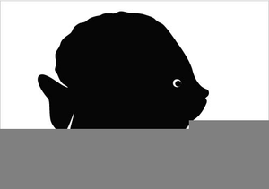 Angelfish clipart sillhoutte vector library library Silhouette Clipart Of Angel Fish | Free Images at Clker.com - vector ... vector library library