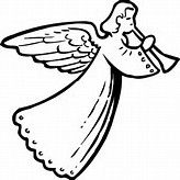 Angels among us clipart picture black and white Christmas angels clip art - Bing Images | Angels Among Us | Angel ... picture black and white