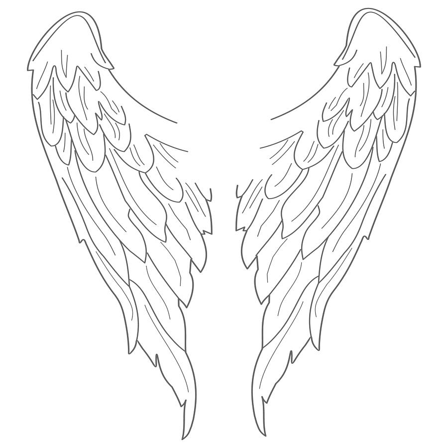 Angels clipart wings drawing jpg freeuse library Free Angel Wings Drawing, Download Free Clip Art, Free Clip Art on ... jpg freeuse library