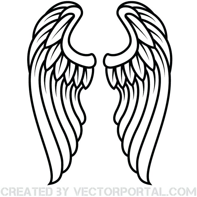 Angels clipart wings drawing banner library Angel Wings Drawing Outline | Free download best Angel Wings Drawing ... banner library
