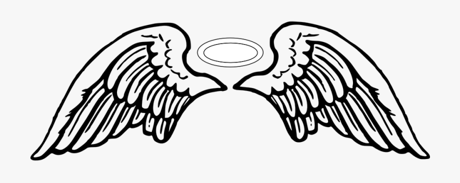 Angels clipart wings drawing banner library stock Рay Attention To Transparent Background Clipart Angel - Angel Wings ... banner library stock