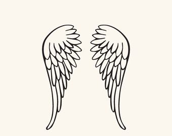 Angels clipart wings drawing vector royalty free SVG and DXF File - Angel Wings, Nursery, Baby, Silhouette, Clipart ... vector royalty free