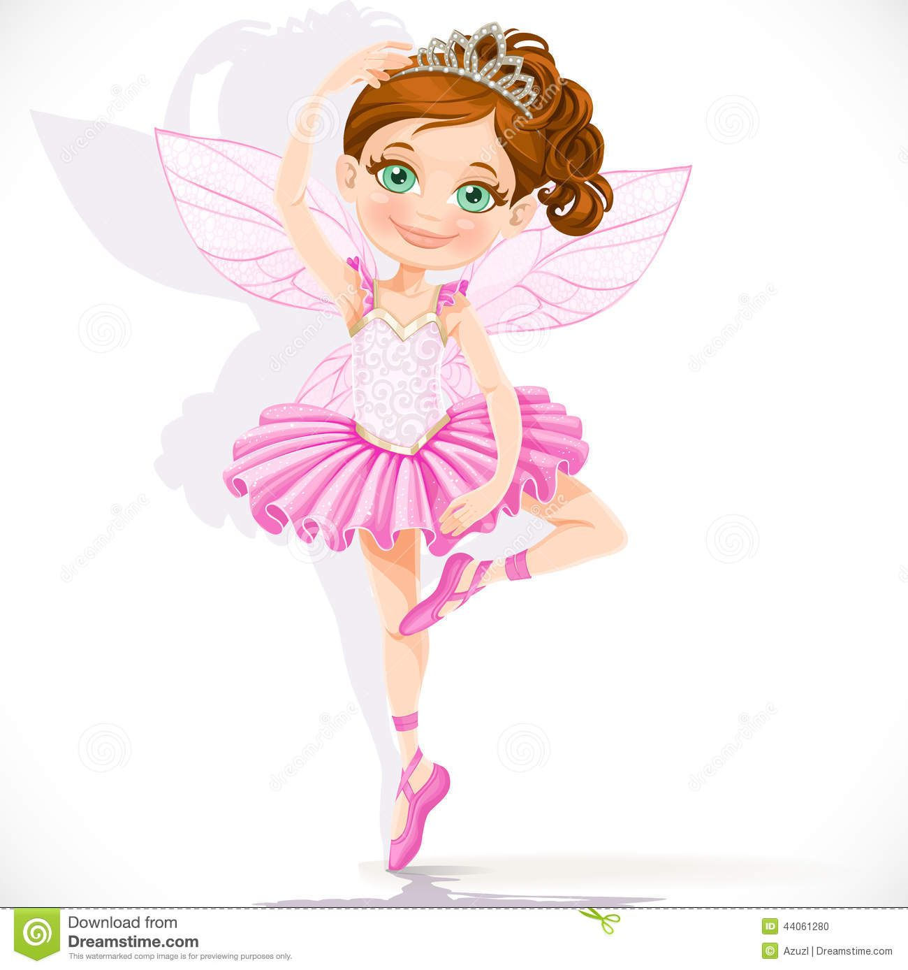 Angels dancing clipart clip art royalty free library Girls Angels clipart   Cute Little Fairy Girl In Pink Tutu And Tiara ... clip art royalty free library