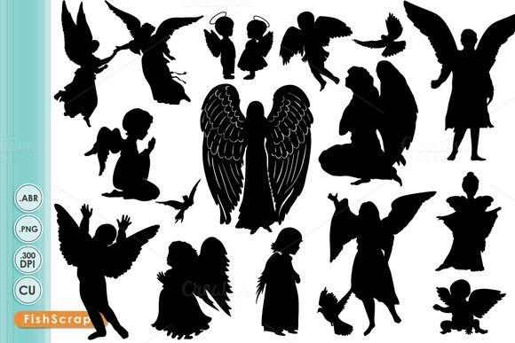 Angels dancing clipart banner library stock Check out Angel Clip Art - Angel Silhouettes by FishScraps on ... banner library stock
