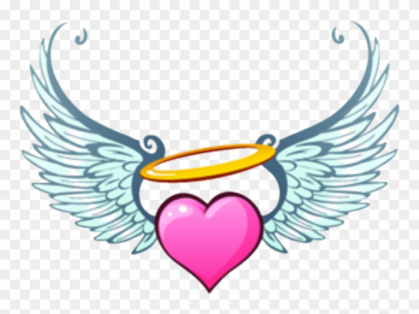 Angels hearts clipart banner download angel #hearts #wings #heart - Heart With Angel Wings Clipart, HD Png ... banner download