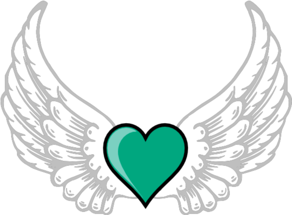Angels hearts clipart banner royalty free stock Mq Green Heart Hearts Wings Wing - Purple Angel Wings Clipart - Full ... banner royalty free stock