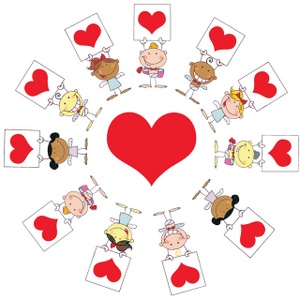 Angels hearts clipart banner stock Hearts Clipart Image: Angels | Clipart Panda - Free Clipart Images banner stock