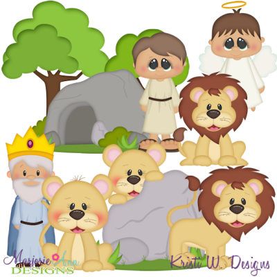 Clipart for daniel in the lion s den clip download Daniel & The Lions Den SVG Cutting Files + Clipart - $2.28 ... clip download