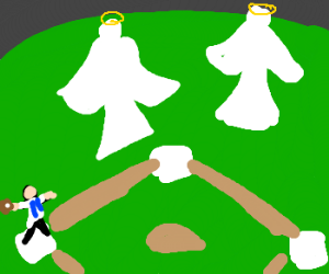 Angels in the outfield clipart vector transparent stock Angels in the Outfield - Drawception vector transparent stock