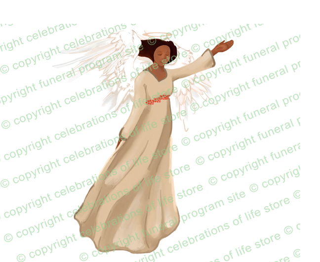 Angels joyous celebration clipart banner transparent library Fascination Angel Funeral Clip Art (Light/Dark Skin) banner transparent library