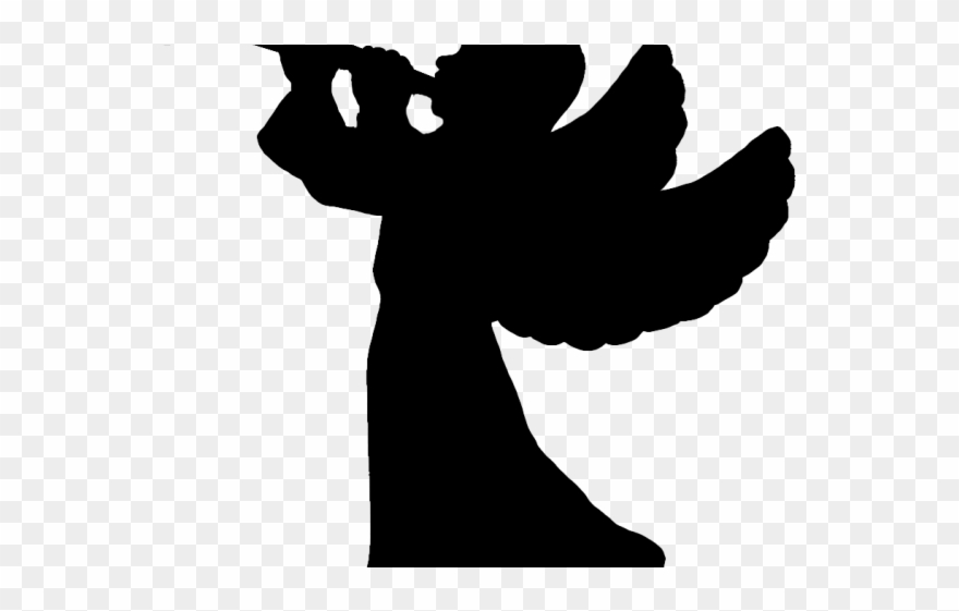 Angels playing instruments silochette clipart clipart freeuse stock Apocalyptic Clipart Trumpet - Silhouette Angel With Trumpet - Png ... clipart freeuse stock
