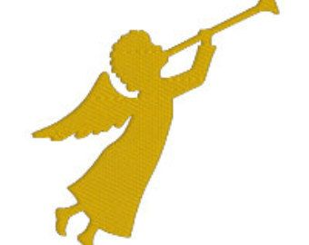 Angels playing instruments silochette clipart picture transparent download Image result for angel with trumpet silhouette | Christmas ornaments ... picture transparent download