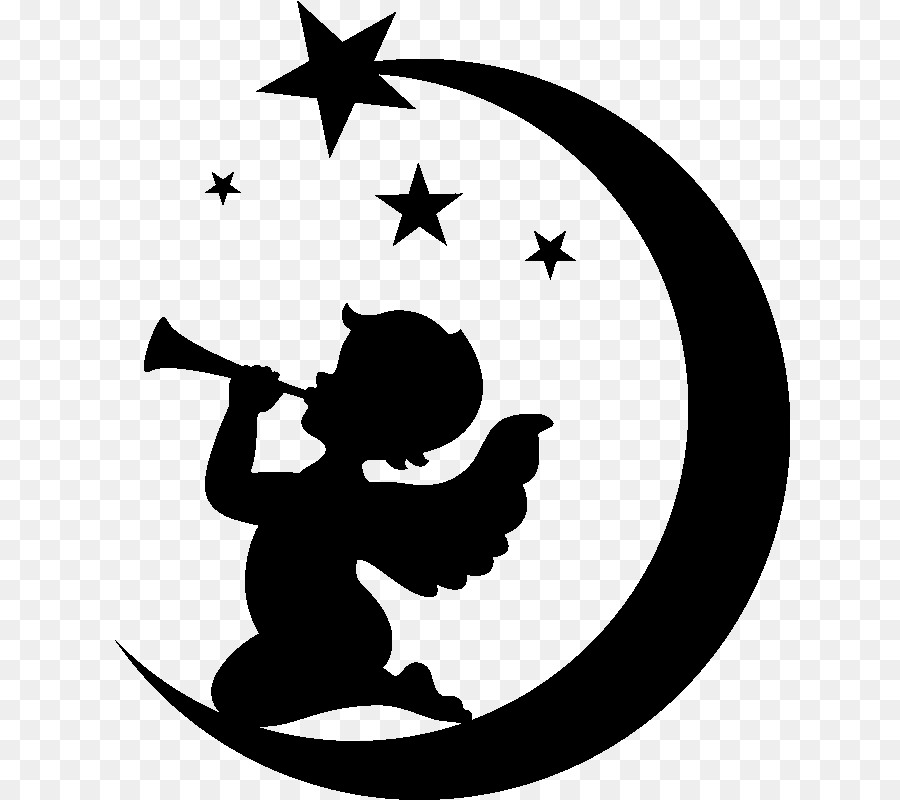 Angels playing instruments silochette clipart picture royalty free library Angel Cartoon clipart - Silhouette, Drawing, Sticker, transparent ... picture royalty free library