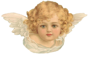 Angels victorian clipart image black and white Free Victorian Angel Clipart | Free Images at Clker.com - vector ... image black and white