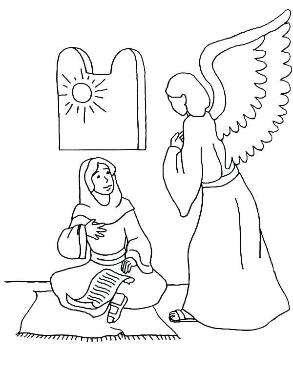 Angels visit abraham clipart graphic freeuse angels visit mary and joseph coloring page coloring page angel ... graphic freeuse