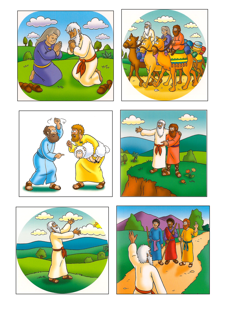 Angels visit abraham clipart clipart freeuse library 41) God\'s Promise to Abraham-lesson(Eng)_005 | Abraham and Sarah ... clipart freeuse library