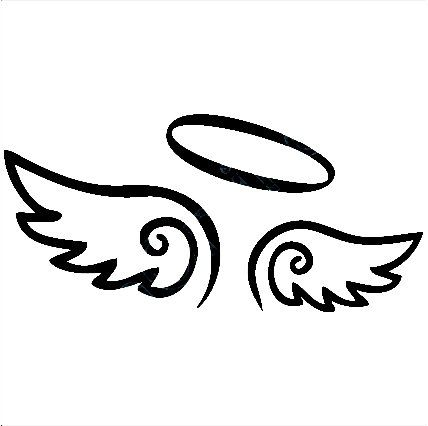 Angels with halos clipart image free library Angel Wings Decal with Halo, angels decals, angels stickers, vinyl ... image free library
